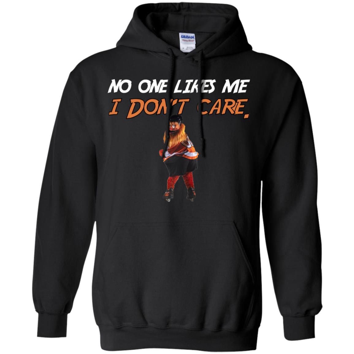 e0a0f284d92 Gritty Philly Mascot No one likes me I don t care T shirt
