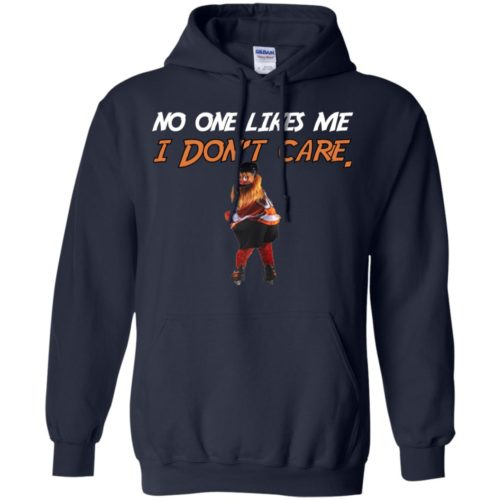 Gritty Philly Mascot No one likes me I don't care T shirt, Ls, Hoodie
