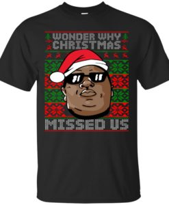 Notorious B.I.G Wonder Why Christmas Missed Us T shirt, Ls, Sweater