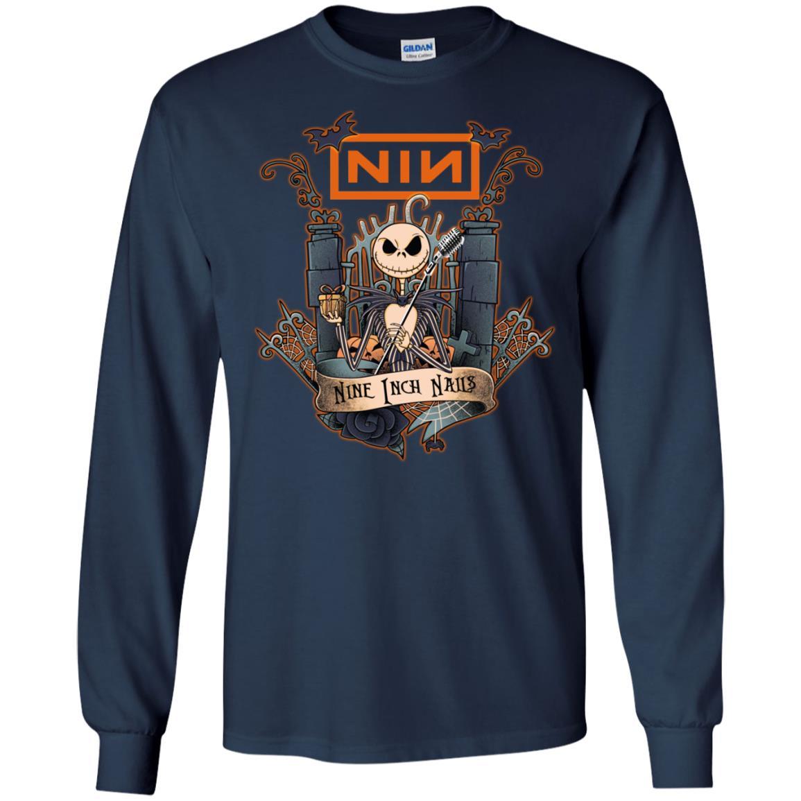 Jack Skellington Nine Inch Nails T Shirt Ls Sweatshirt Sweater Nin