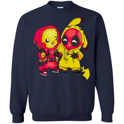 Baby Pokemon Pikachu and Deadpool T shirt, Ls, Sweatshirt