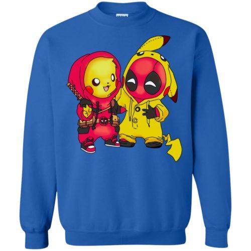Baby Pokemon Pikachu and Deadpool T shirt, Ls, Sweatshirt