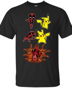 Baby Deadpool and Pikachu Fusion T shirt, Ls, Sweatshirt