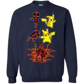 Baby Deadpool and Pikachu Fusion T shirt, Ls, Sweatshirt