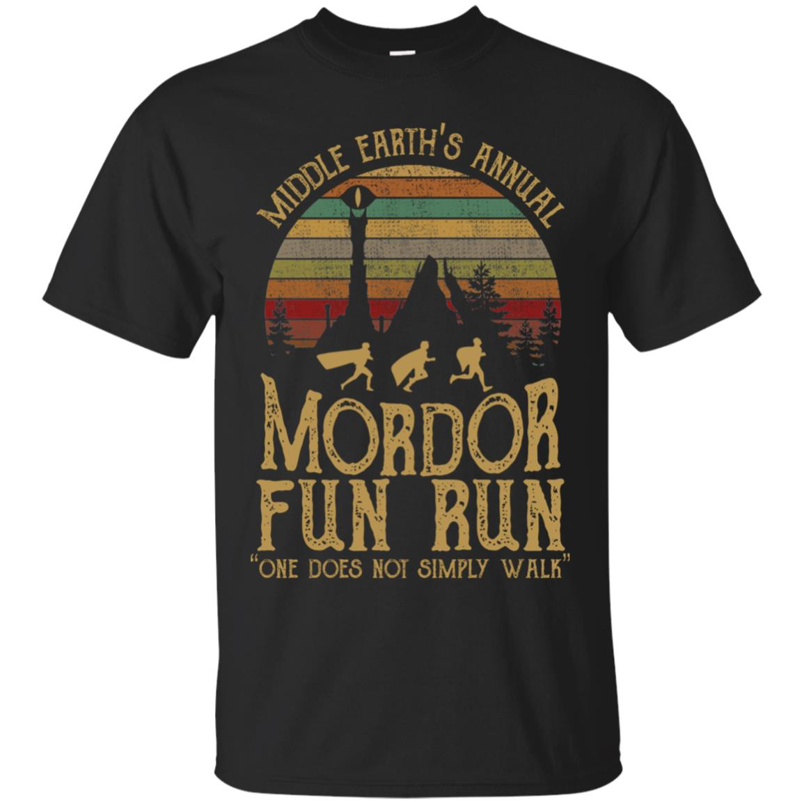 0469e12f6 Middle earth's annual mordor fun run one does not simply walk T shirt, Ls,  Hoodie - RobinPlaceFabrics
