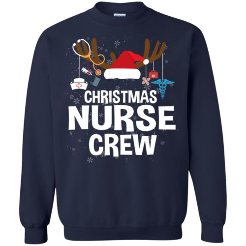 Christmas nurse crew T shirt, Ls, Sweater