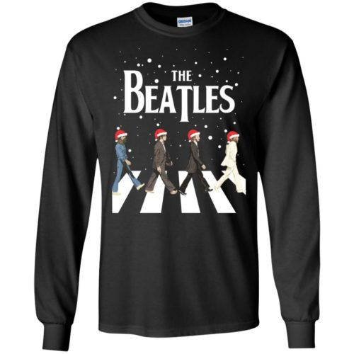 The Beatles Christmas T shirt, Ls, Sweater