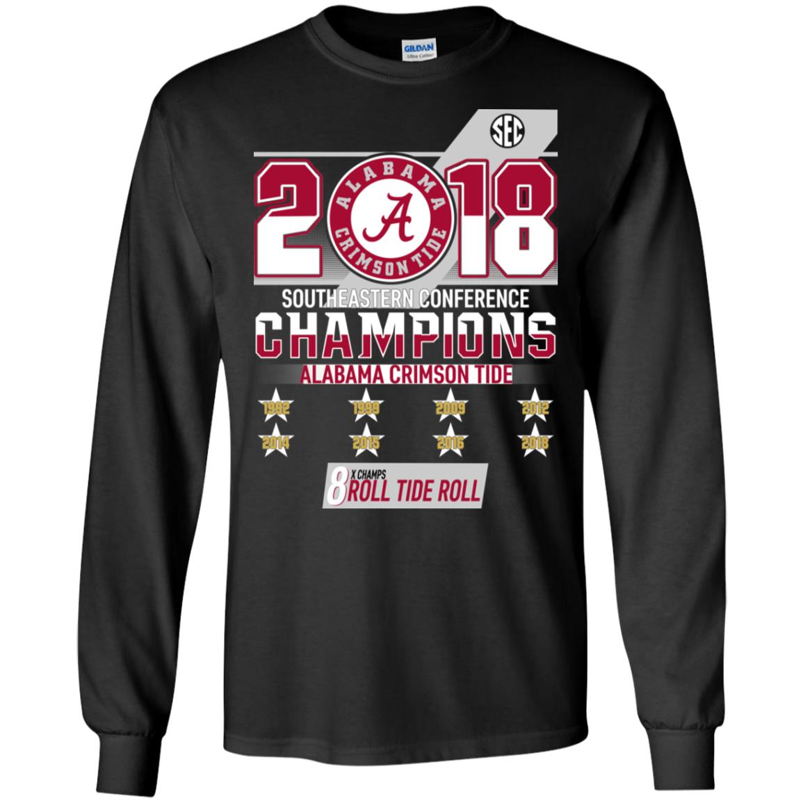 7be9ee434 Alabama Crimson Tide 2018 Southeastern Conference Champions T shirt, Ls,  Sweatshirt