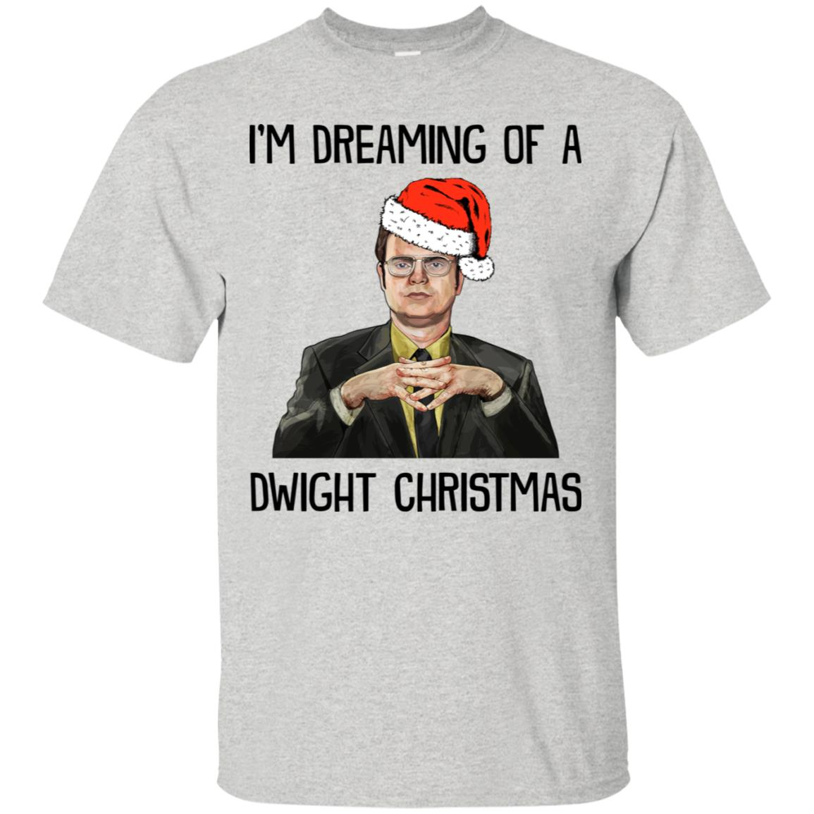 Dwight Christmas.Dwight Schrute I M Dreaming Of A Dwight Christmas Sweatshirt Ls Hoodie