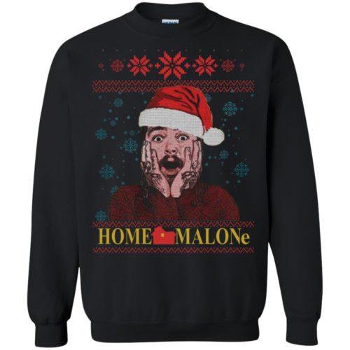 Home Malone Post Malone Christmas Sweatshirt, Ls, Hoodie