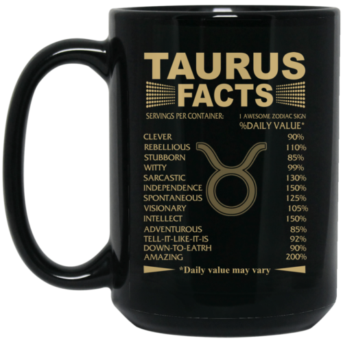 Taurus facts coffee mugs