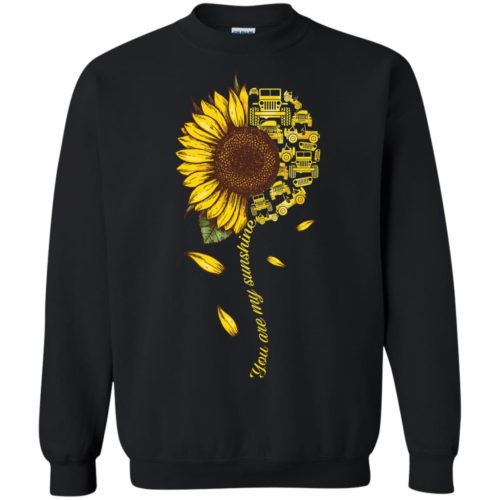 Jeep Sunflower You are my sunshine t shirt, tank, hoodie