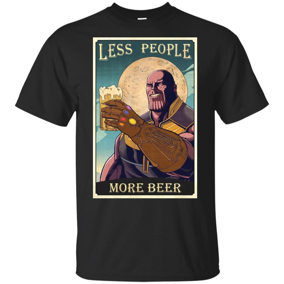 6c515a22 Thanos less people more beer t shirt, tank, hoodie - RobinPlaceFabrics