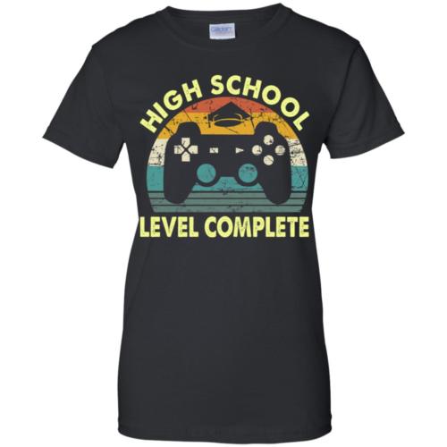 2019 High school level complete gamer graduation t shirt