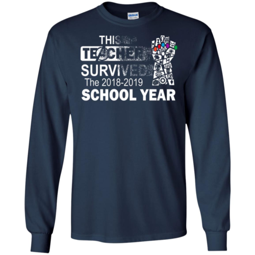 Avengers This teacher survived the 2018 2019 school year shirt