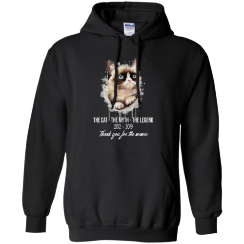 RIP Grumpy Cat The cat the myth the legend thank you for the memes hoodie, t shirt
