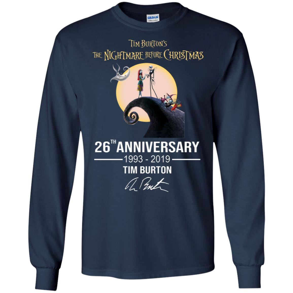 c8987287 Tim Burton's The Nightmare Before Christmas 26th anniversary hoodie, t shirt