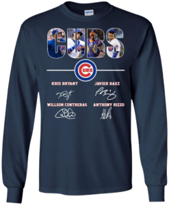 newest f07de 82c6a Chicago Cubs Kris Bryant Javier Baez Willson Contreras Anthony Rizzo  hoodie, t shirt