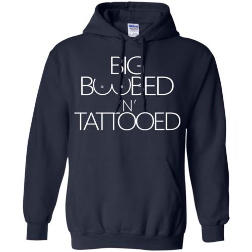 Big boobed 'n' tattooed hoodie, t shirt