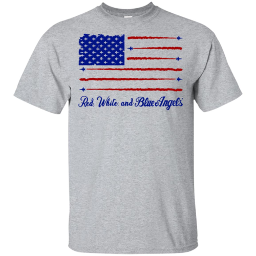 4th of July American flag red white and blue angels hoodie, t shirt