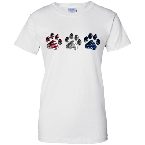 4th of July Dog paw American flag hoodie, t shirt