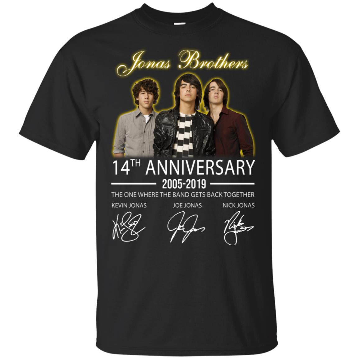 42919a4b5 Jonas Brothers 14th anniversary 2005-2019 hoodie, t shirt -  RobinPlaceFabrics