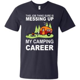 Men's Printed V-Neck T-Shirt
