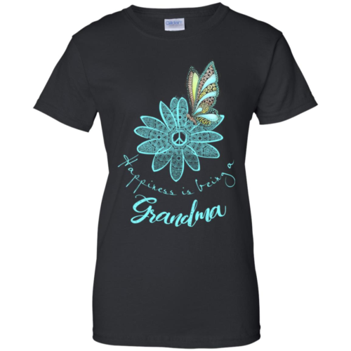 Flower butterfly happiness is being a grandma hoodie, t shirt