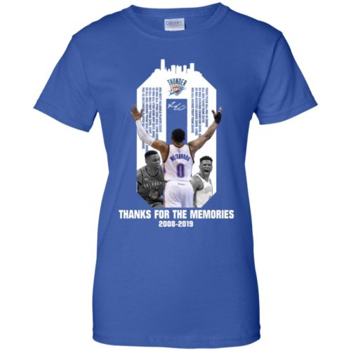 Russell Westbrook OKC Thunder Thank for the memories 2008 2019 shirt