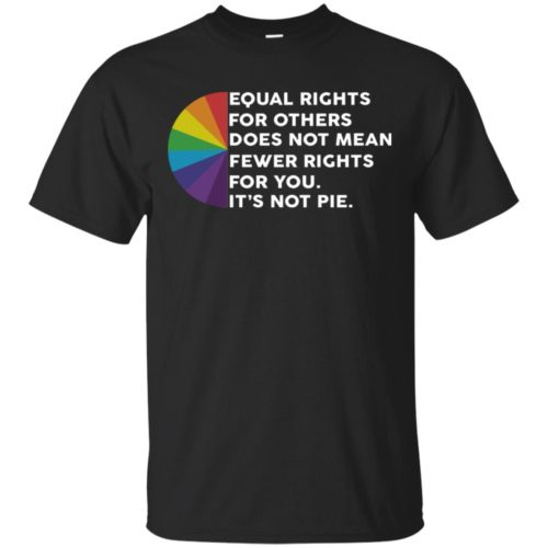 LGBT Equal rights for others does not mean fewer rights for you It's not pie shirt