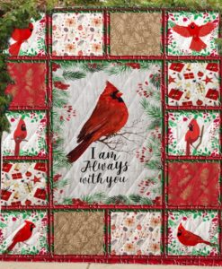 Cardinalis bird I am always with you quilt blanket