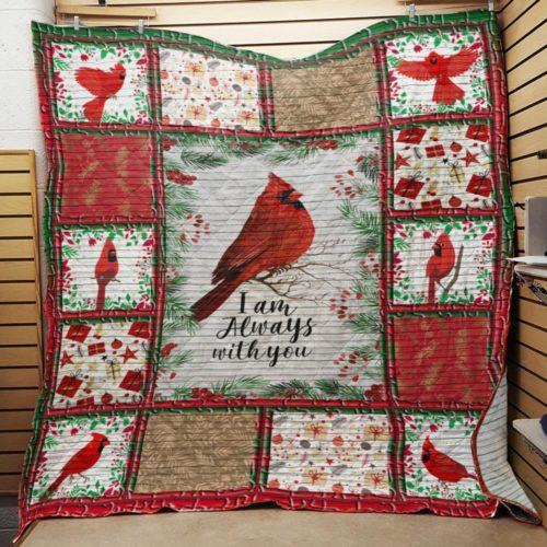 Cardinalis bird I am always with you quilt blanket