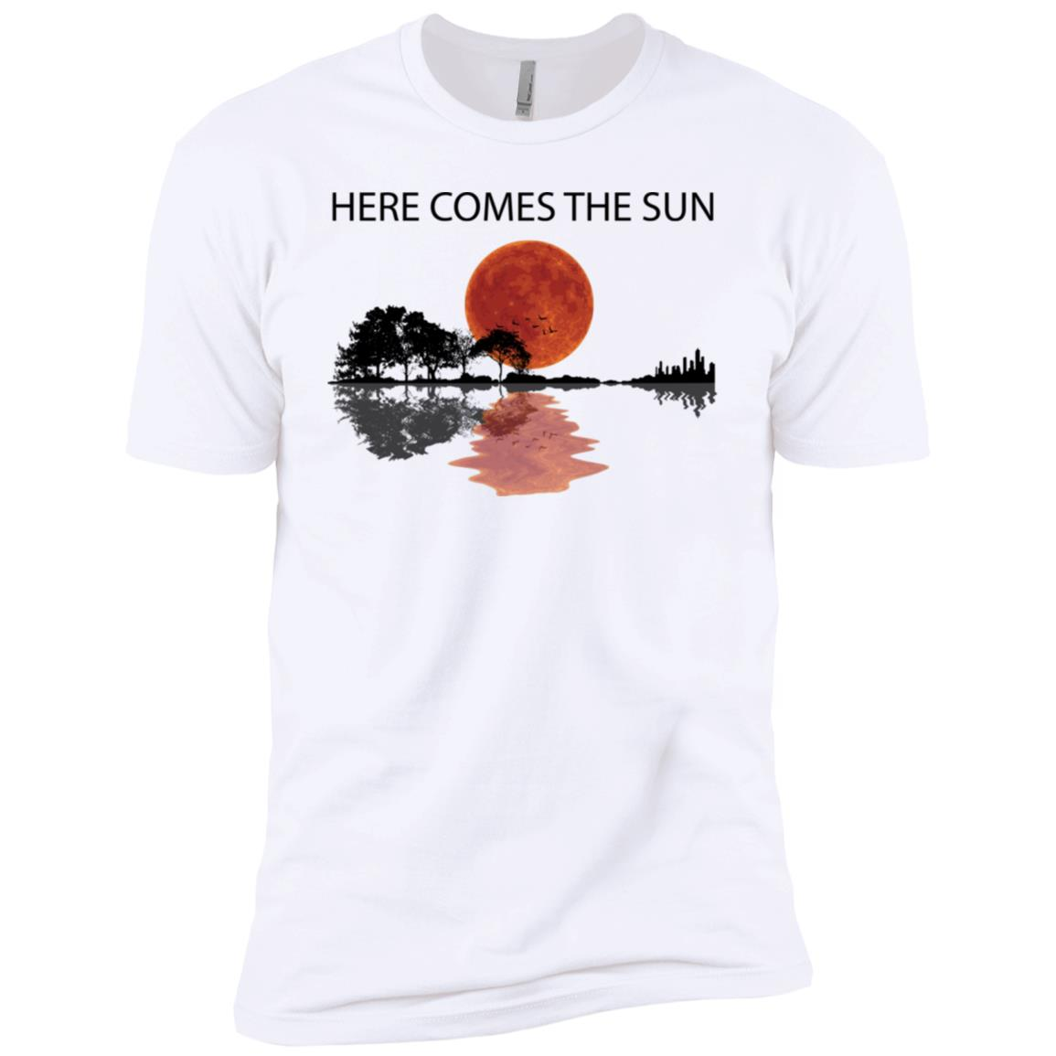 Sunset Guitar Here comes the sun hoodie, ls, t shirt