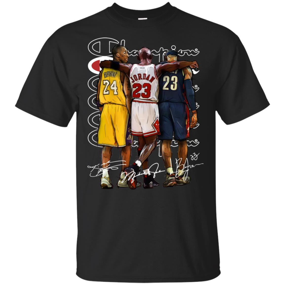 cheaper 2376d 7338d Kobe Bryant, Michael Jordan and LeBron James Champion hoodie, ls, t shirt