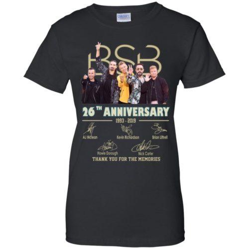 Backstreet Boys BSB 26th anniversary 1993 2019 signatures shirt