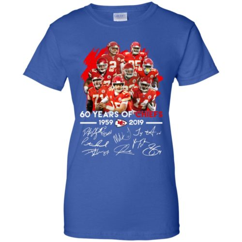 Kansas City Chiefs 60 years of Chiefs 1959 2019 signatures hoodie, ls, t shirt