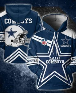 DALLAS COWBOYS 3D ALL OVER PRINTED HOODIE