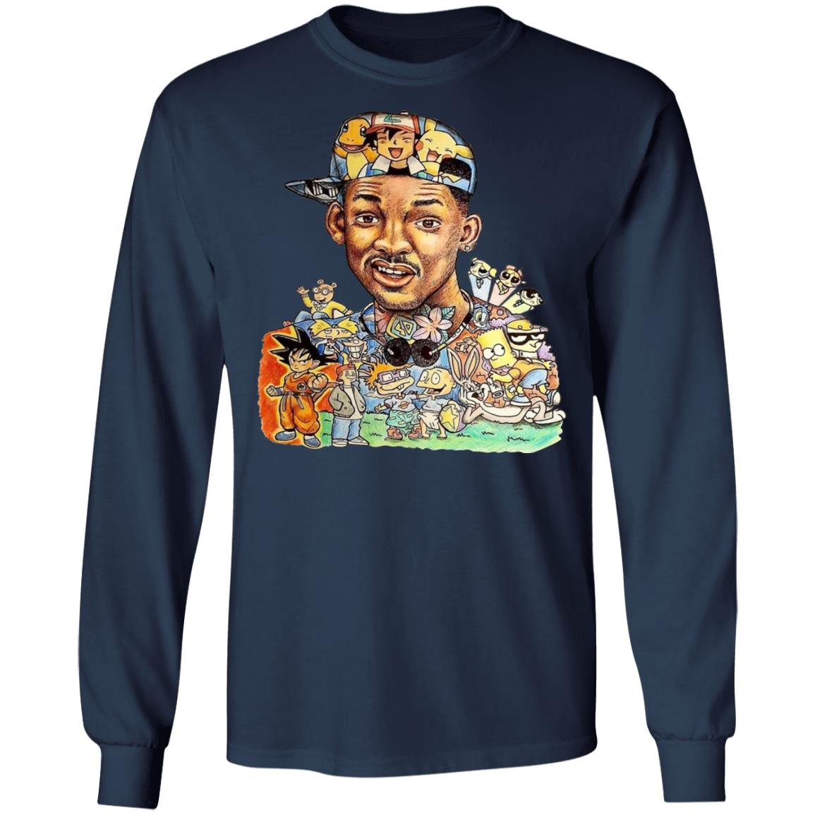 Funny The Fresh Prince Of Bel Air Will Smith 90s Cartoon Shirts Robinplacefabrics