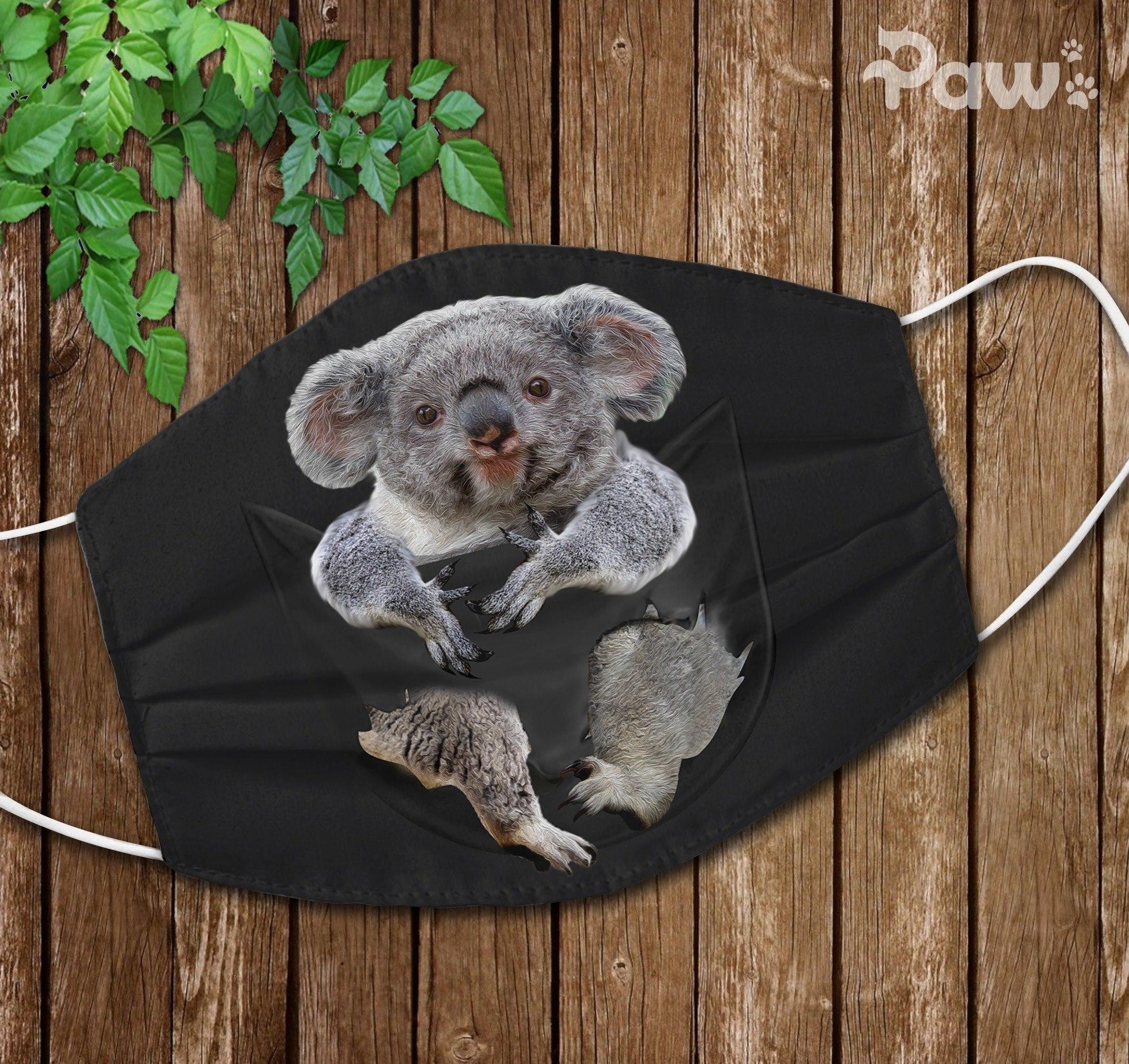 Cute Koala Face Mask - RobinPlaceFabrics