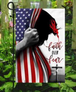 Faith Over Fear American House Flag