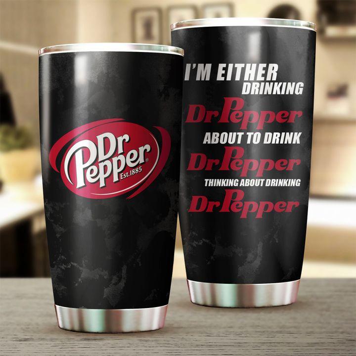 Fun Dr Pepper Stainless Steel Tumbler 20oz
