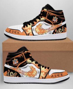One Piece Portgas D. Ace Fire Fist Jordan 1 High Sneaker