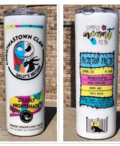 Christmastown Claw Sally Seltzer Deadly Nightshade Glitter Tumbler