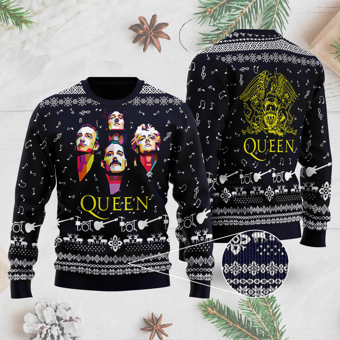 Queen Band 3D Printed Ugly Christmas Sweater