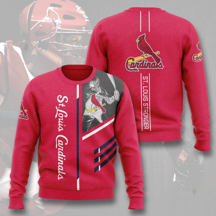 St Louis Cardinals St Louis Stronger Full Printed Sweater