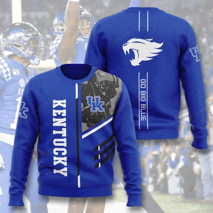 Kentucky Wildcats Go Big Blue Full Printing Sweater