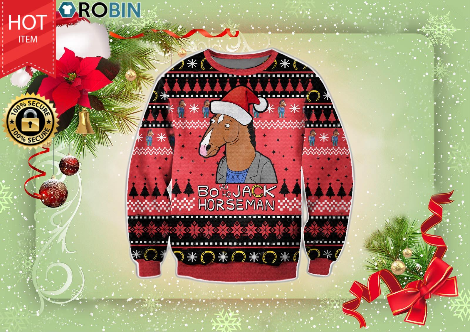 Bojack Horseman Christmas Wool Ugly Sweater