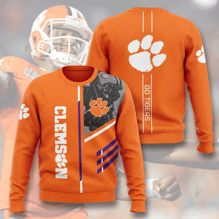 Clemson Tigers Football Go Tigers All Over Print Sweater