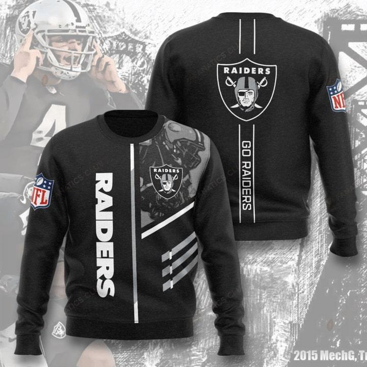 Oakland Raiders Go Raiders Full Printed Sweater