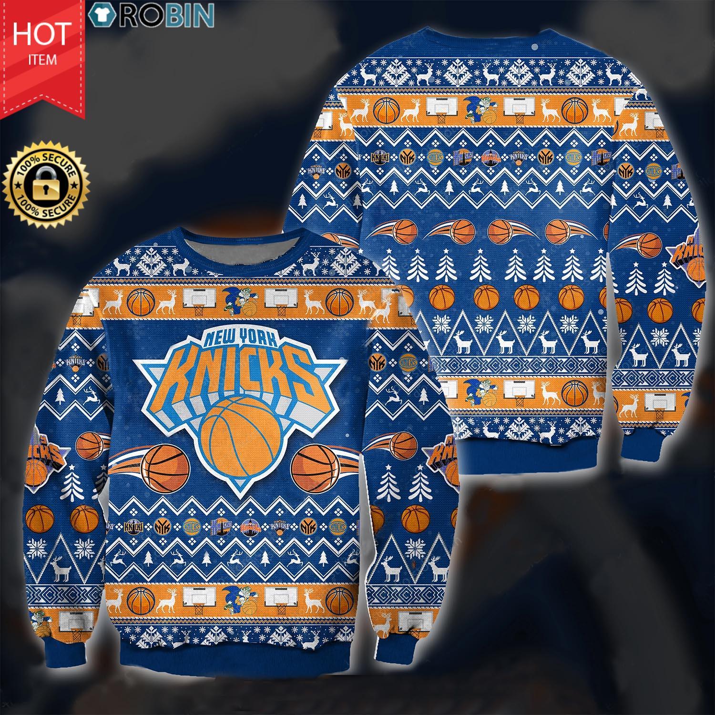 New York Knicks Christmas Wool Ugly Sweater